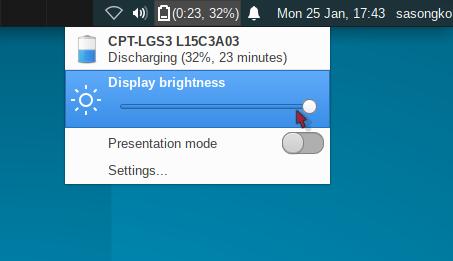 Brightness 100%. Mentok kanan!