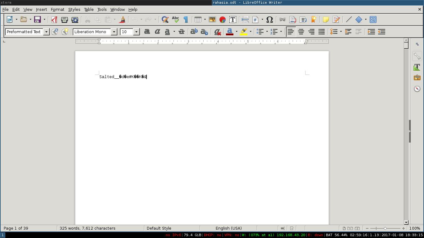 konten file rahasia.odt hasil enkripsi